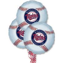 Minnesota Twins Balloons 18in 3ct