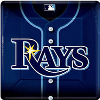 Tampa Bay Rays Dinner Plates 18ct