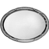Silver Metal Oval Platter