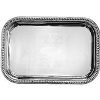 Silver Metal Rectangular Tray 12 1/2in x 19in