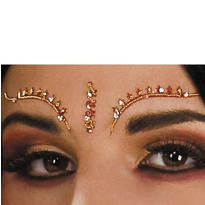 Bollywood Eyelash and Eyebrow Jewels