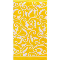 Sunshine Yellow Ornamental Scroll Guest Towels 16ct