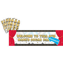 Hollywood Giant Personalized Sign Banner 65in