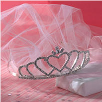 Rhinestone Wedding Tiara with Veil