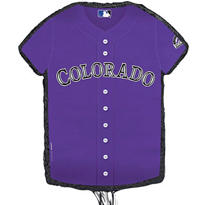 Colorado Rockies Pull String Pinata 23in x 18in