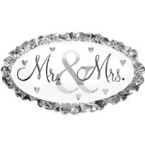 Foil Mr. & Mrs. Wedding Balloon 32in