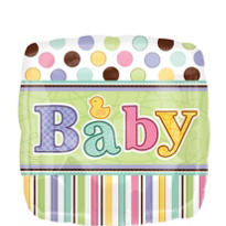 Foil Tiny Bundle Baby Shower Balloon 18in