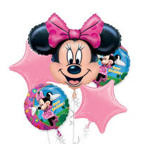 Minnie Mouse Birthday Balloon Bouquet 5pc