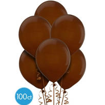 Chocolate Brown Balloons 100ct