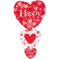 Foil Stacker Valentines Day Balloon 36in