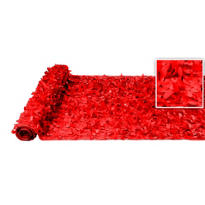 Red Vinyl Floral Sheeting 15ft