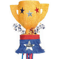 Pull String Trophy Pinata 21in