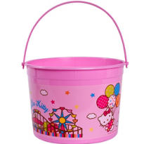 Hello Kitty Pink Plastic Bucket