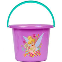 Plastic Tinker Bell Easter Bucket 7 1/2in