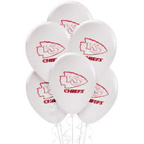 Kansas City Chiefs Latex Balloons 6ct