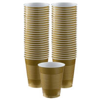 BOGO Gold Plastic Cups 50ct