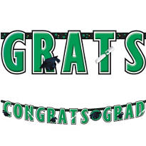 Green Graduation Letter Banner 10ft