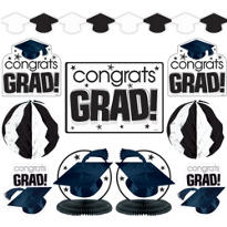White Graduation Decorating Kit 10pc