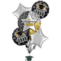 Class Pride Graduation Balloon Bouquet 5ct