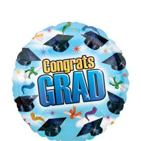 Foil Grad Spirit Graduation Balloon 18in