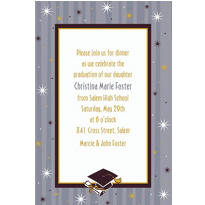 Grad Honors Custom Graduation Invitation