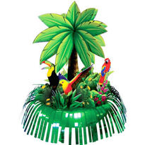 Foil Fringe Palm Tree Centerpiece