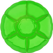 Green Chip and Dip Tray 16in