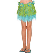Child Cool Two-Tone Mini Hula Skirt