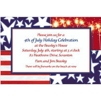 Star Spangled Banner Custom Patriotic Invitation