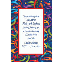 Custom Celebration Streamers Invitations