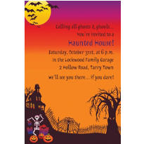 Haunted Hill Halloween Custom Invitation