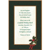 Classic Holly Custom Invitation