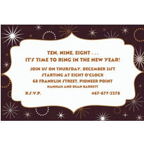 New Year's Gala Custom Invitation