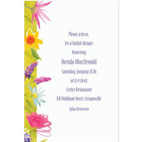 Beautiful Blooms Custom Invitation