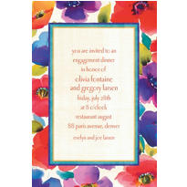 Poppy Collage Custom Invitation