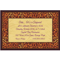 Safari Chic Custom Invitation