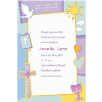 Communion Celebration Custom Invitation