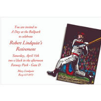 Baseball Card Custom Invitation