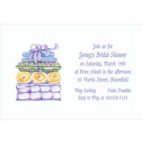 Pillows & Towels Custom Invitation