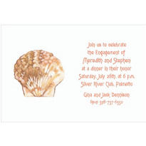 Scallop Shell Custom Wedding Invitation