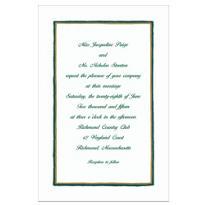 Green & Gold Lines Custom Invitation