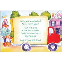 Big Moving Truck Custom Housewarming Invitation