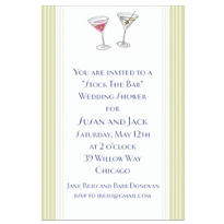 His and Hers Cocktails Custom Wedding Invitation