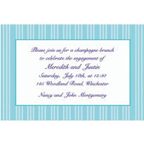 Ice Blue Triple Stripe Custom Invitation