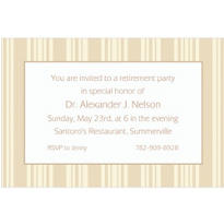 Taupe Summer Stripe Custom Invitation