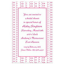 Bachelorette Pink Looping Stripe Custom Invitation