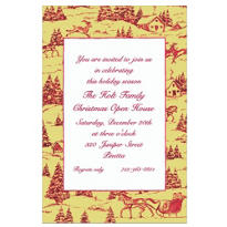 Holiday Toile Custom Invitation
