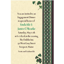 Celtic Knot and Clovers Custom St. Patricks Day Invitation