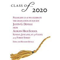 Custom Class Of... Graduation Invitations