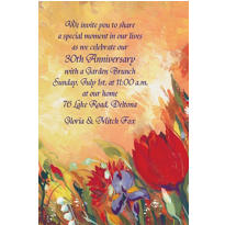 Bouquet in Oil Custom Invitation
